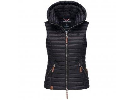 Dámska vesta s kapucňou Shadaa Navahoo - BLACK
