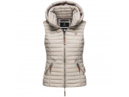 Dámska vesta s kapucňou Shadaa Navahoo - LIGHT GREY