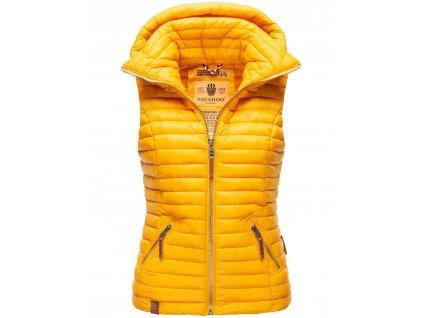 Dámska vesta s kapucňou Shadaa Navahoo - YELLOW
