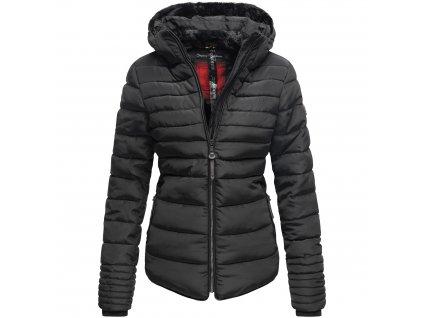 Dámska zimná bunda s kožušinkou Amber Marikoo - BLACK