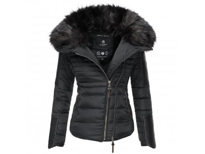 Dámska zimná bunda s kožušinkou Yuki 2 Navahoo - BLACK