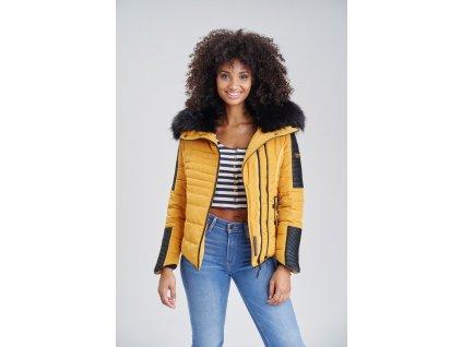 Dámska zimná bunda s kožušinkou Yuki 2 Navahoo - YELLOW