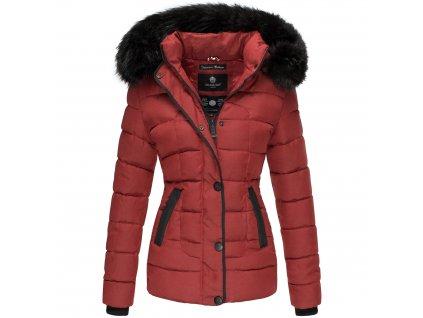 Dámska zimná bunda s kapucňou Unique Marikoo - RED