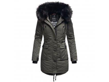 Dámska zimná dlhá bunda / kabát Luluna Princess Navahoo - DARK GREY