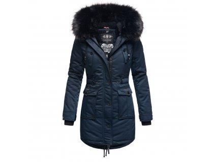 Dámska zimná dlhá bunda / kabát Luluna Princess Navahoo - NAVY
