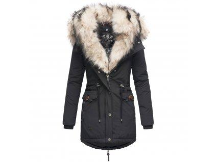 Dámska zimná bunda s kožušinkou Sweety Navahoo - BLACK