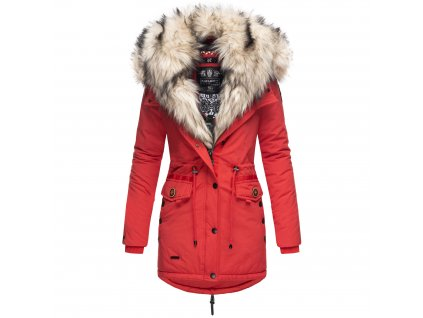 Dámska zimná bunda s kožušinkou Sweety Navahoo - RED