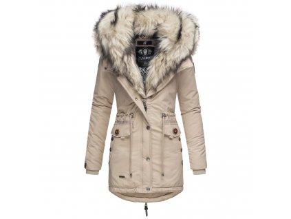 Dámska zimná bunda s kožušinkou Sweety Navahoo - TAUPE