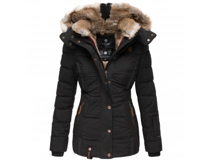 Dámska zimná bunda s kapucňou Nekoo Marikoo - BLACK
