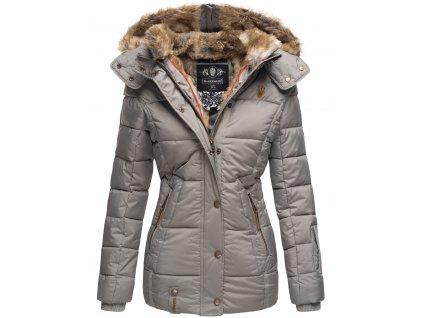 Dámska zimná bunda s kapucňou Nekoo Marikoo - GREY