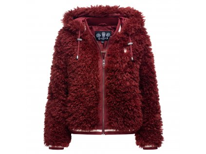 Dámska zimná chlpatá bunda Puderzuckerwolkchen Marikoo - BORDEAUX