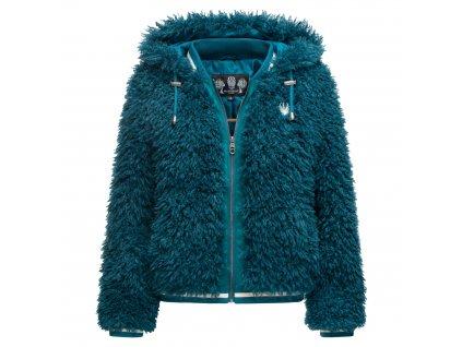 Dámska zimná chlpatá bunda Puderzuckerwolkchen Marikoo - PETROL