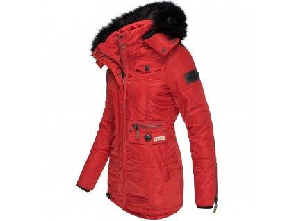 Dámska zimná bunda s kapucňou Schatzchen Navahoo - RED