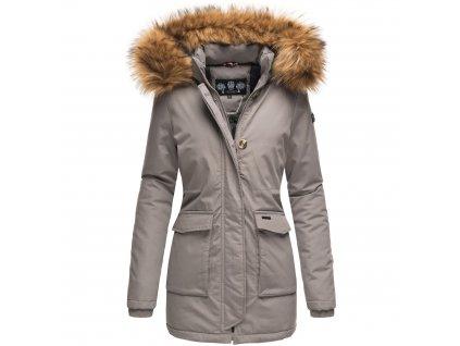 Dámska zimná bunda s kapucňou Schneeengel Princess Navahoo - GREY