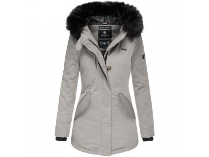 Dámska zimná bunda s kapucňou Nisam Navahoo - GREY