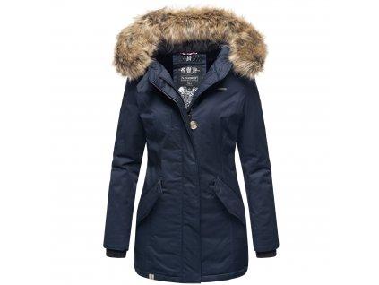 Dámska zimná bunda s kapucňou Nisam Navahoo - NAVY
