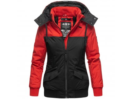 Dámska zimná bunda Sumikoo Marikoo - RED/BLACK