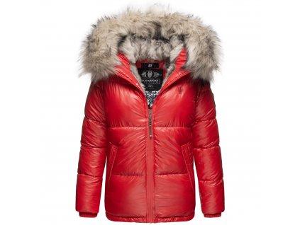 Dámska teplá zimná bunda s kožušinkou Tikunaa Premium Navahoo - RED