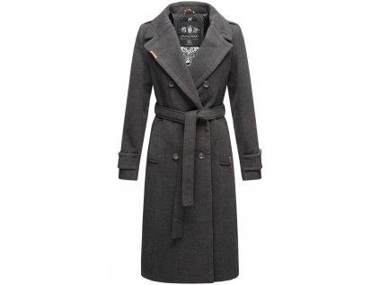 Dámsky zimný kabát dlouhý Arnaa Navahoo - ANTRACITE