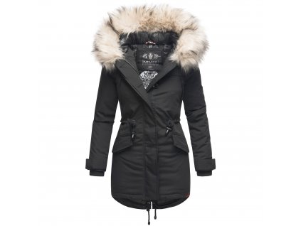 Dámska zimná dlhá bunda LadyLike Navahoo - BLACK
