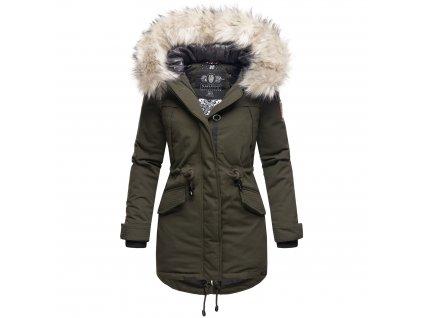 Dámska zimná dlhá bunda LadyLike Navahoo - OLIVE