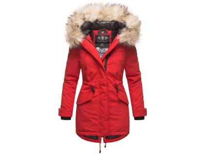 Dámska zimná dlhá bunda LadyLike Navahoo - RED