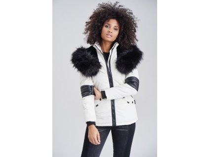Dámska zimná bunda s kapucňou Nirvana Navahoo - WHITE