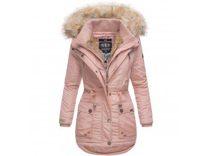 Dámska zimná bunda s kapucňou Grinsekatze Marikoo - ROSE