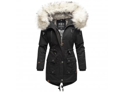 Dámska zimná bunda - kabát Honigfee Navahoo - BLACK