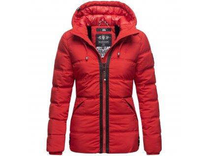 Dámska zimná bunda s kapucňou Liebeswolke Marikoo - RED