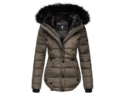 Dámska zimná bunda s kapucňou Lotusblute Marikoo - ANTRACITE