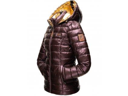 Dámska zimná bunda Aurealianaa Navahoo - AUBERGINE