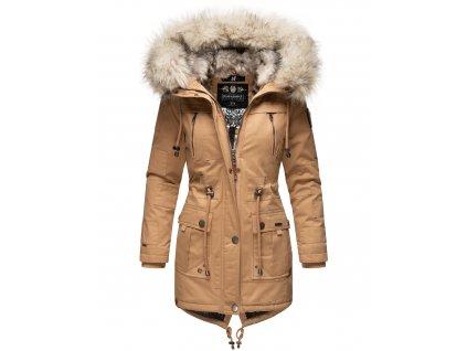 Dámska zimná bunda - kabát Honigfee Navahoo - CAMEL