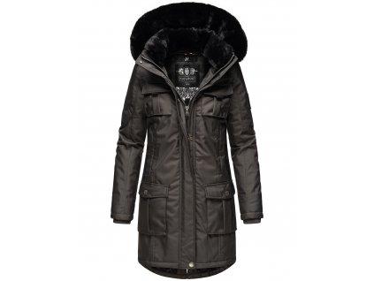 Dámska zimná bunda s kapucňou Tiniis Navahoo - ANTRACITE
