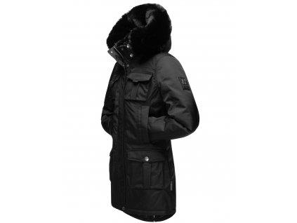 Dámska zimná bunda s kapucňou Tiniis Navahoo - BLACK