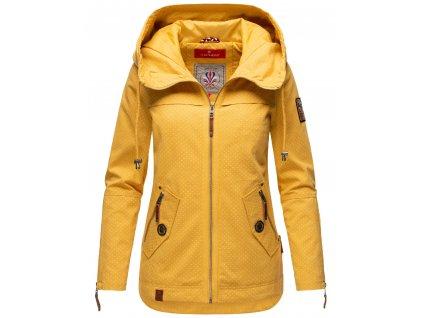 Jarná-jesenná bunda s kapucňou s potlačou Wekoo Marikoo - YELLOW WP