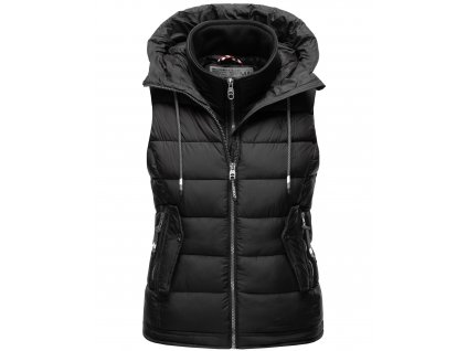 Dámska vesta s kapucňou Taisaa Navahoo - BLACK