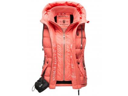 Dámska vesta s kapucňou Taisaa Navahoo - ROSE CORAL