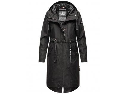 Dámsky kabát s kapucňou Josinaa Navahoo - BLACK