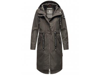 Dámsky kabát s kapucňou Josinaa Navahoo - ANTRACITE