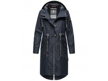 Dámsky kabát s kapucňou Josinaa Navahoo - NAVY