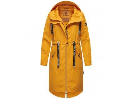 Dámsky kabát s kapucňou Josinaa Navahoo - YELLOW
