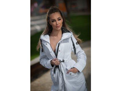 Dámsky kabát s kapucňou Josinaa Navahoo - WHITE