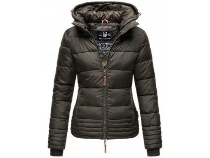 Dámska zimná prešívaná bunda s kapucňou SOLE Marikoo - ANTRACIT