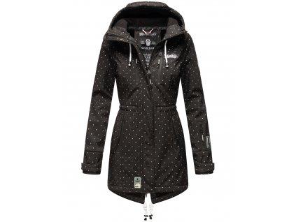 Dámska zimná bunda s kapucňou Softshell Drytech 7000 Zimtzicke P Marikoo - BLACK w. D