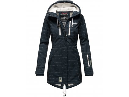 Dámska zimná bunda s kapucňou Softshell Drytech 7000 Zimtzicke P Marikoo - NAVY w. L