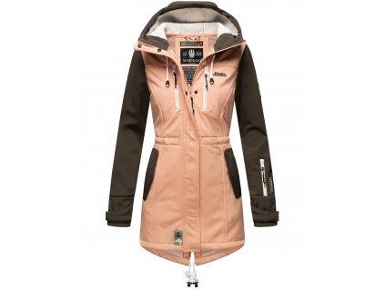 Dámska zimná bunda s kapucňou Softshell Drytech 7000 Zimtzicke P Marikoo - ROSE-ANTRACITE
