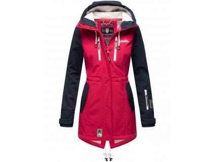 Dámska zimná bunda s kapucňou Softshell Drytech 7000 Zimtzicke P Marikoo - FUCHSIA-NAVY