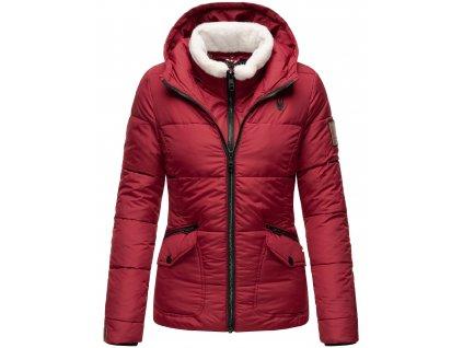 Dámska zimná bunda s kožušinkou Megan Navahoo - BORDEAUX