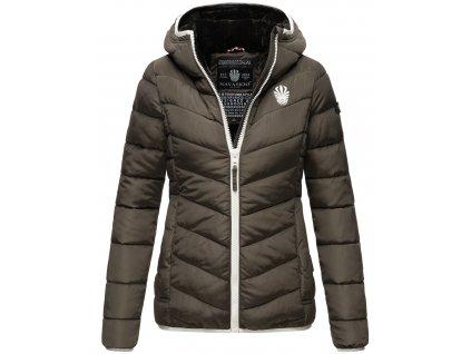 Dámska zimná bunda s kapucňou ELVA N-W-165 Navahoo - ANTRACITE